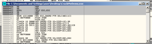 Figure 26: The CrackMeDemo file window